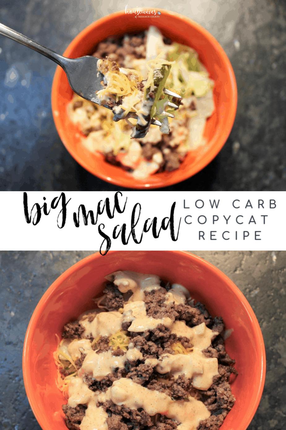 Big Mac Salad: A Low Carb, Copycat Recipe You'll Love!