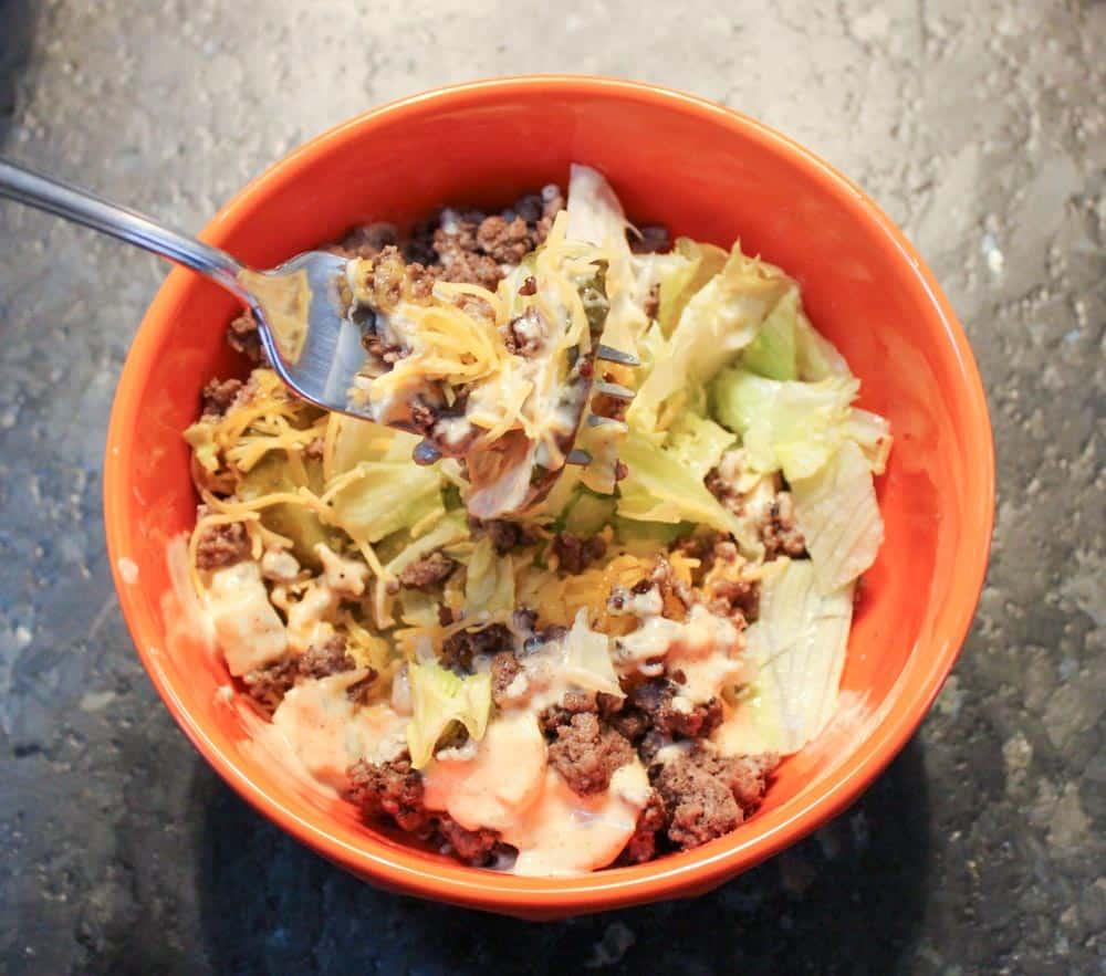 Delicious low carb keto salad