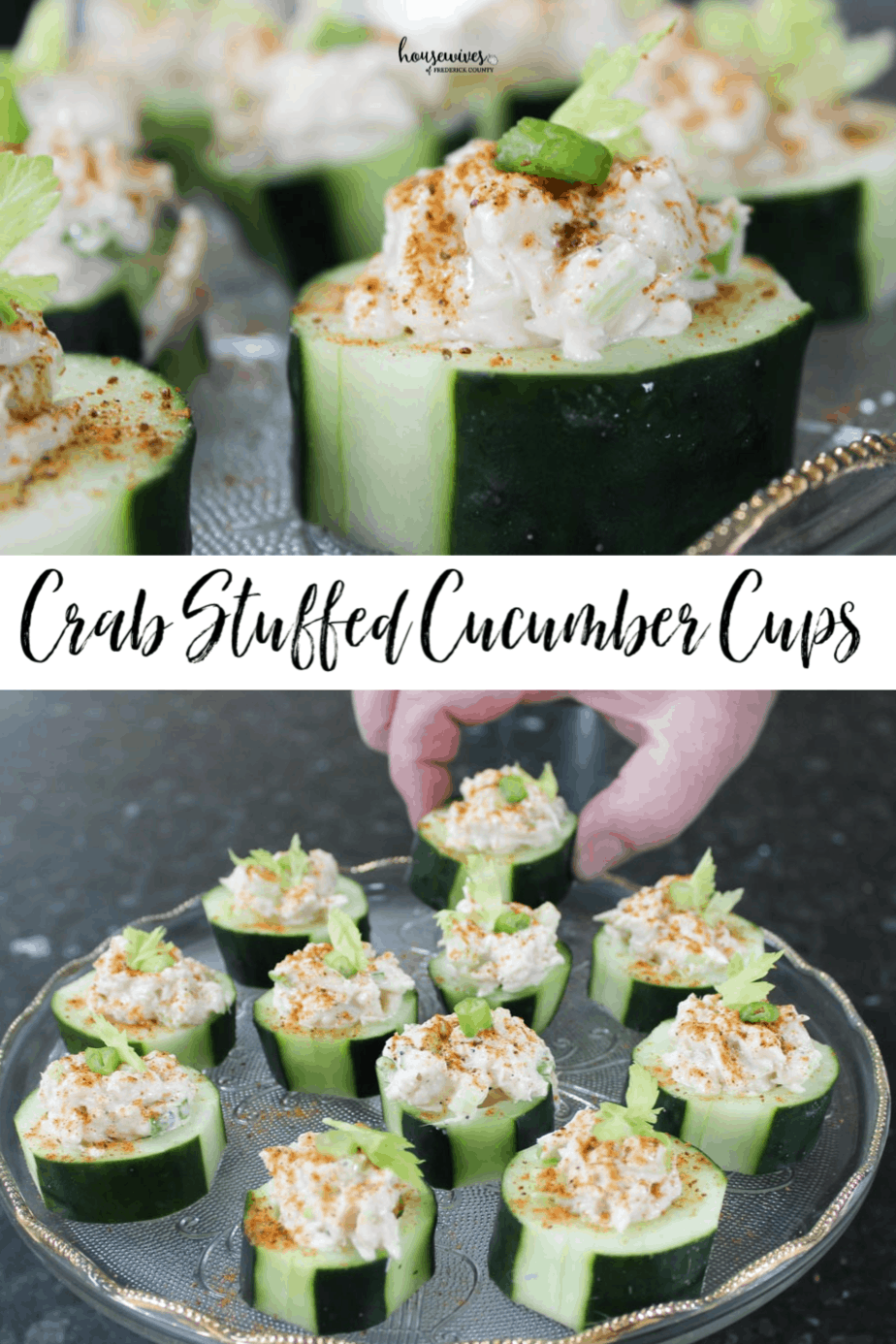 Crab Stuffed Cucumber Cups with Old Bay Seasoning