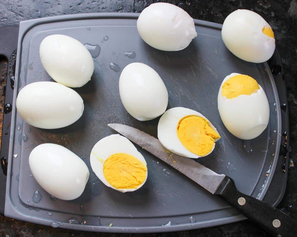 Cut eggs in half lengthwise