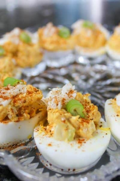Maryland Deviled Eggs with Crab & Old Bay Seasoning