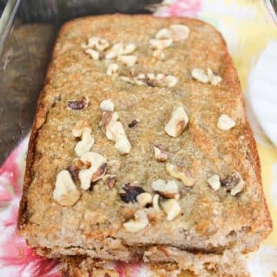 Almond Flour Banana Bread with Walnuts