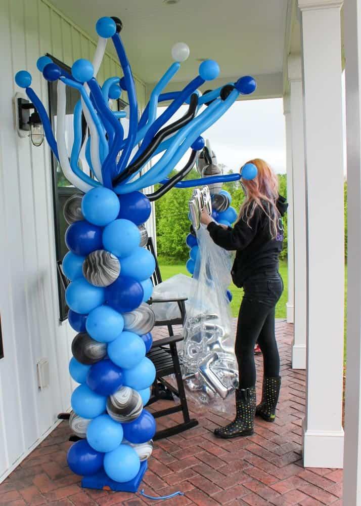 Front porch birthday celebration