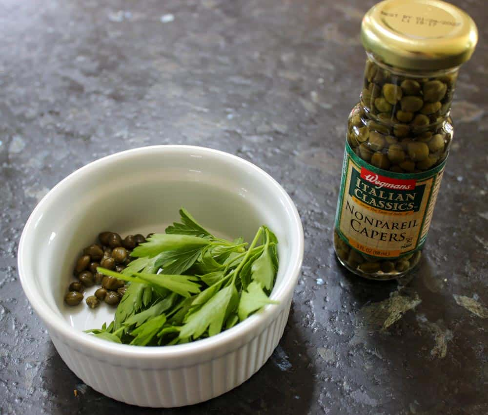 Capers & italian parsley