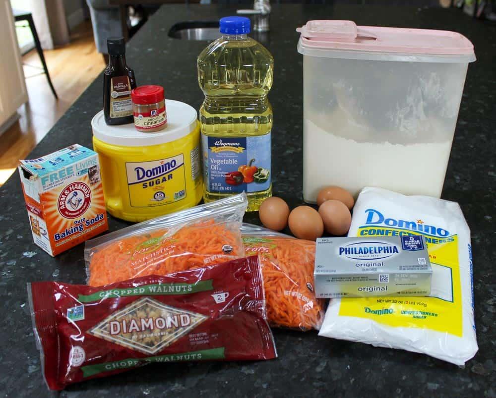 Carrot Cake Recipe Ingredients