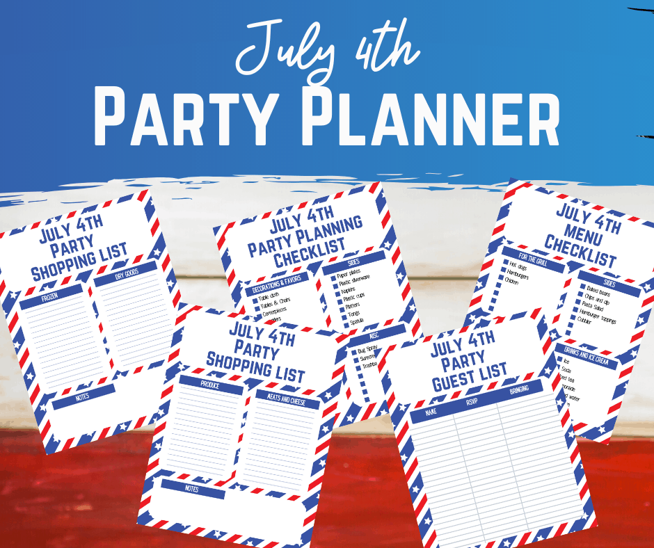 July 4th Printable Party Planner Pack
