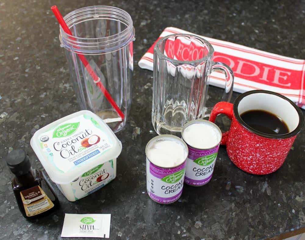 Iced Bulletproof Coffee Recipe Ingredients