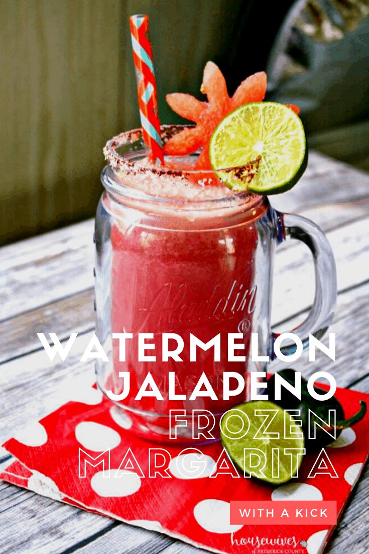 Frozen Margarita Recipe: Watermelon Jalapeno!