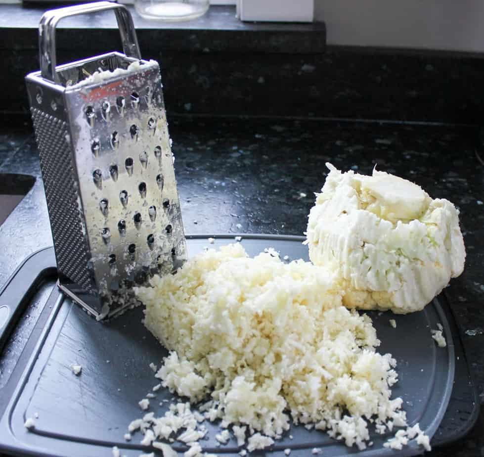 Making riced cauliflower
