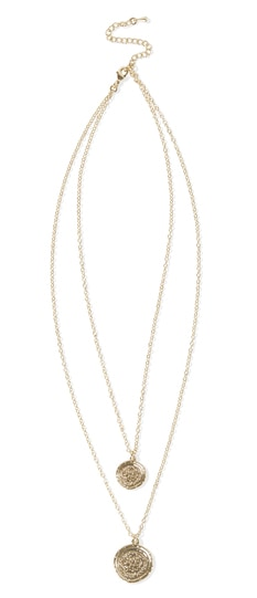 Amber Sceats Double Coin Necklace