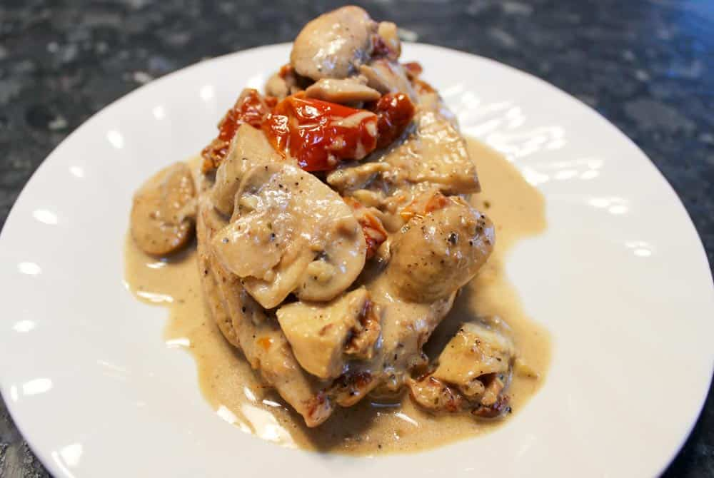 Chicken with Mushrooms & Creamy Brandy Sauce