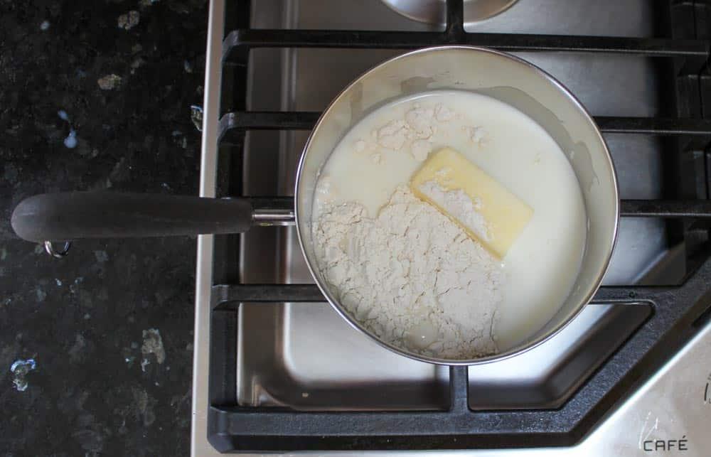 Make the white sauce