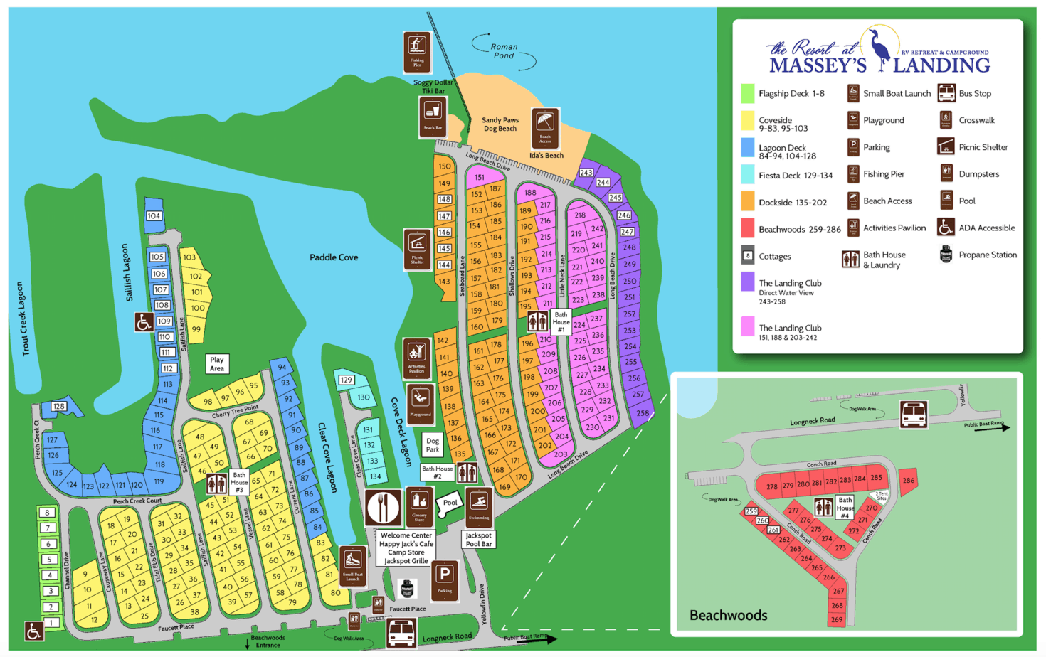 Map of Massey's Landing