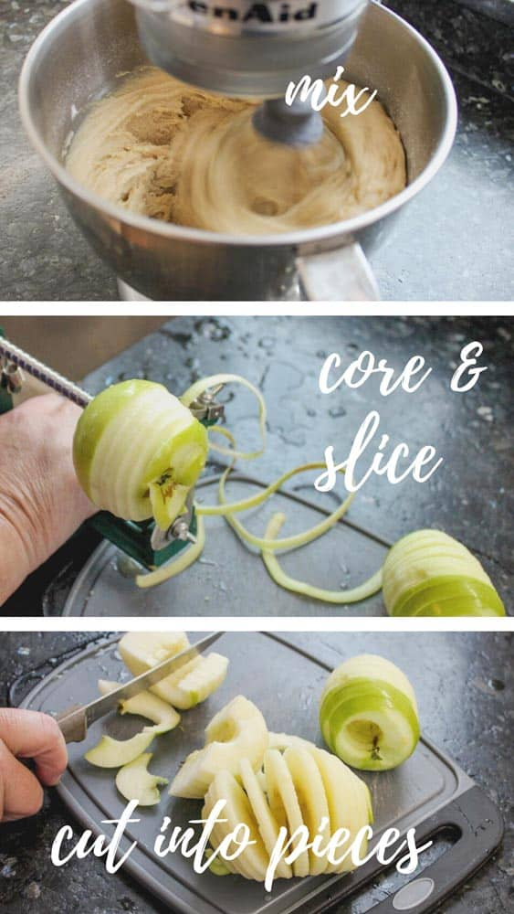 You'll need an electric mixer and an apple corer