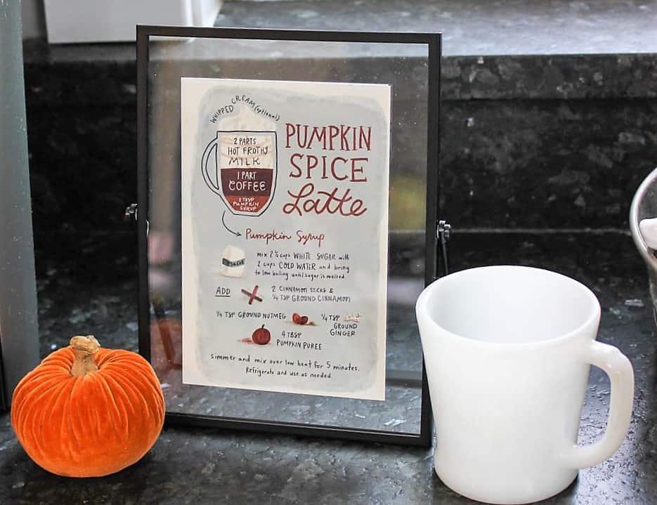 Pumpkin Spice Latte Print