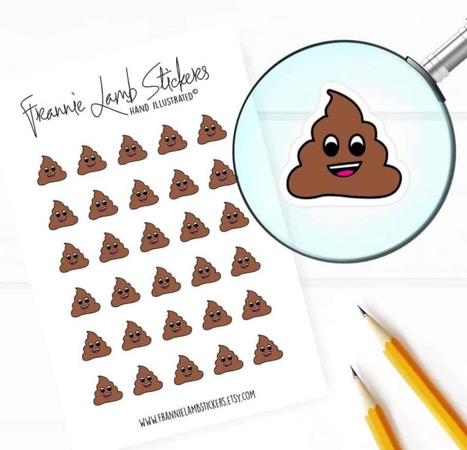 Poop Stickers
