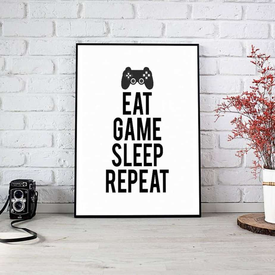 Eat Game Sleep Repeat sign