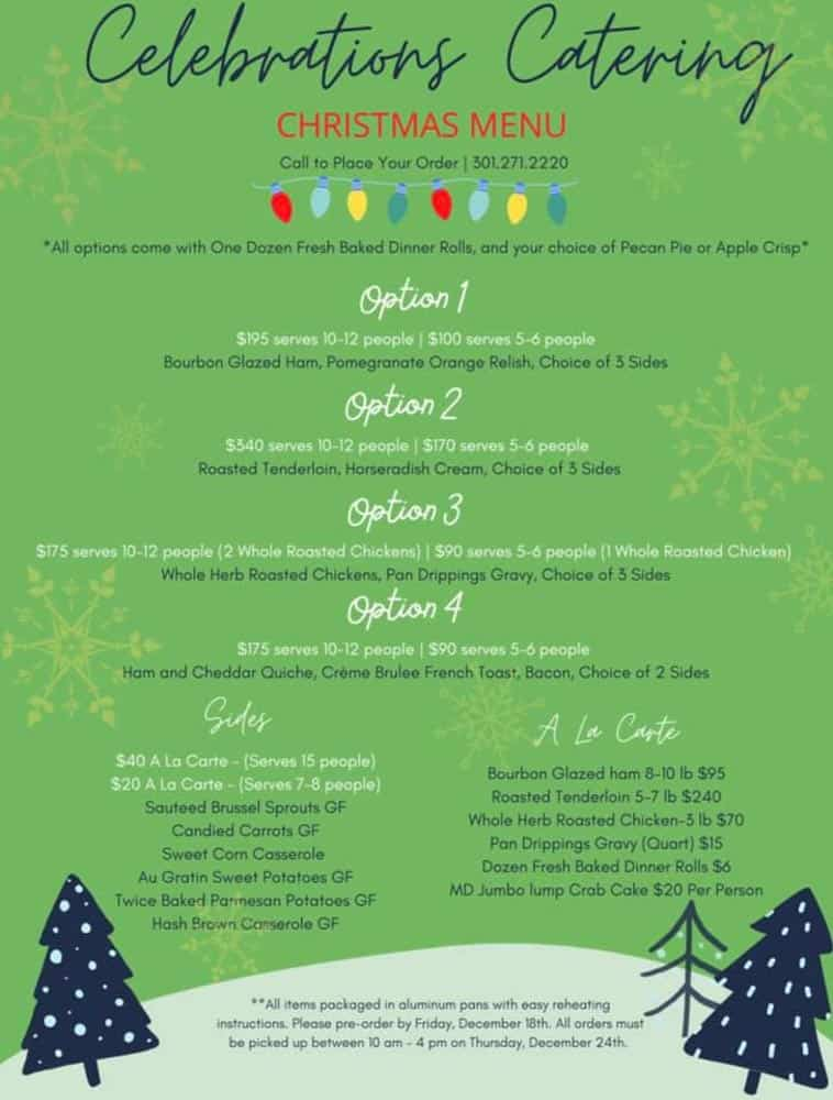 Where to Get Christmas Dinner in Frederick Md (2020)