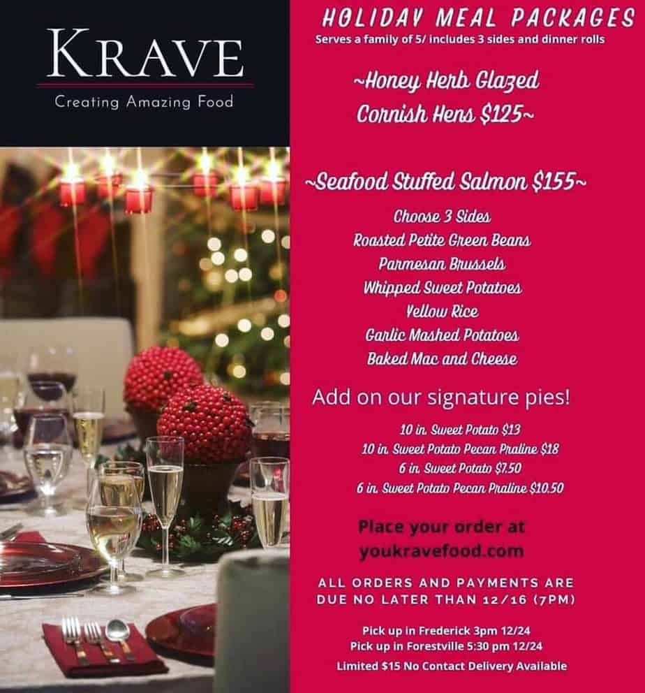 Krave Holiday Meal