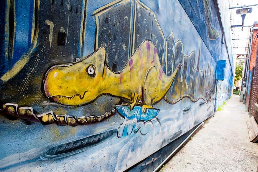 Dinosaur Mural in Downtown Frederick
