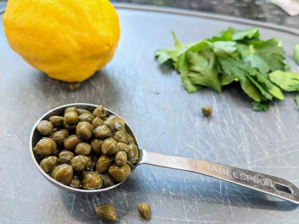 Key ingredients: Capers, Fresh Lemon & Fresh Parsley