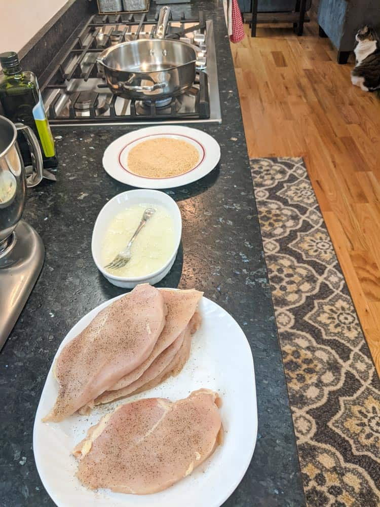 Setup your breading station