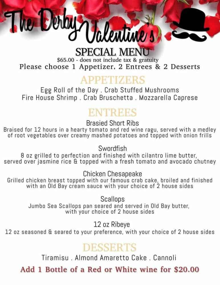 Valentine's Day Dinner in Frederick Md
