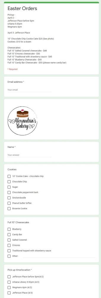 Alexandria's Bakery