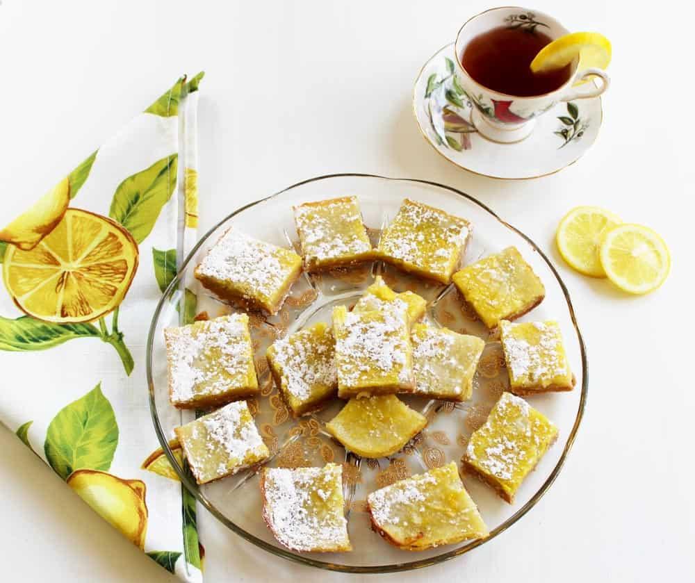 Healthy Lemon Bars Recipe with Pine Nut Crust: 5 WW SmartPoints