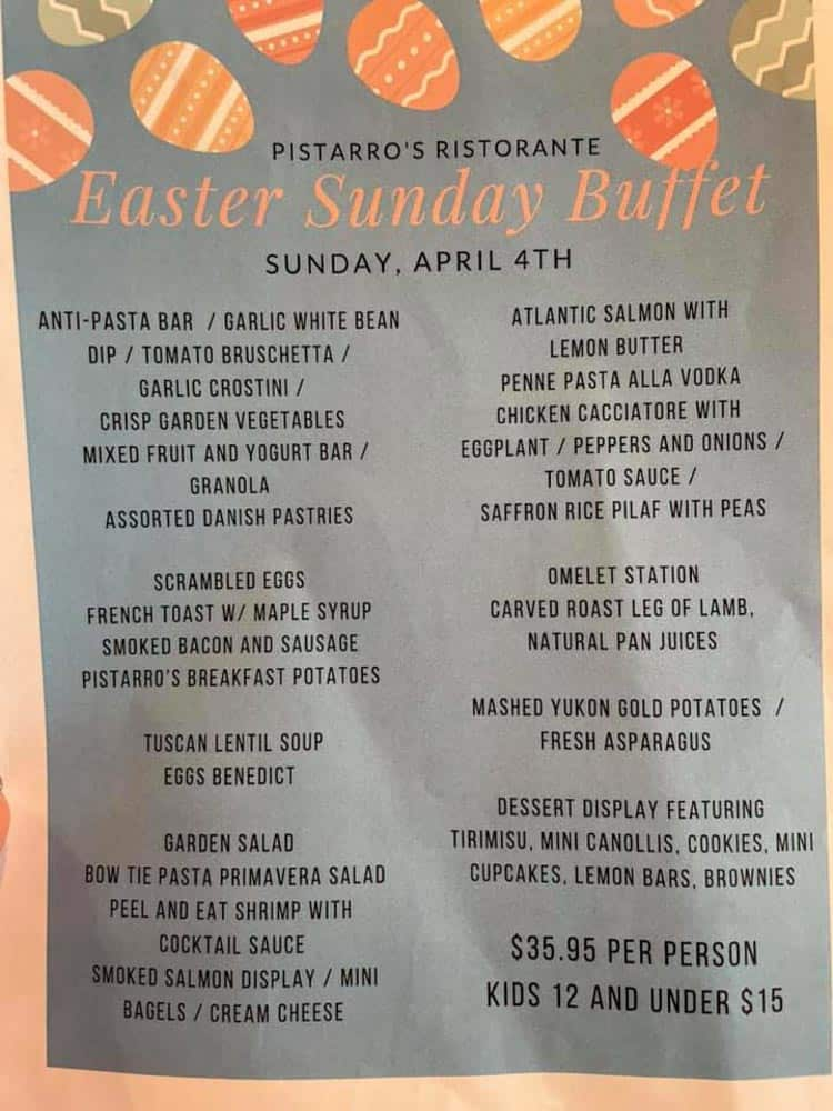 Where To Get Easter Dinner in Frederick Md