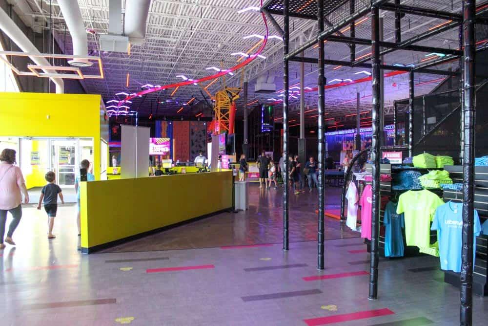 Indoor amusement entrance